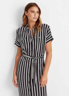 Ralph Lauren Striped Jersey Shirtdress