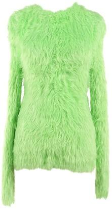 Balenciaga Green Synthetic Knitwear