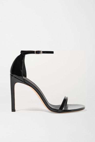Stuart Weitzman Nudistsong Patent-leather Sandals - Black