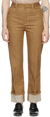 Chloé Brown Denim Trousers