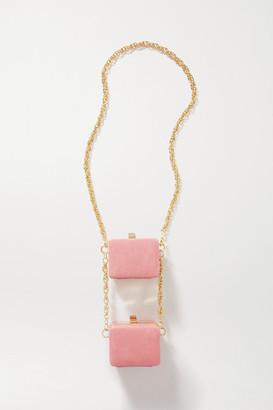 16Arlington Ralphie Double Mini Leather Shoulder Bag - Baby pink