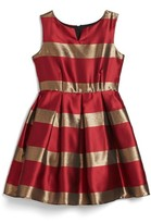 Frais Girl's Stripe Fit & Flare Dress