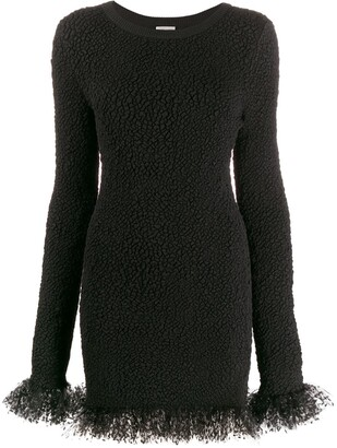 Saint Laurent Tulle Trimmed Dress