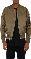 Stampd Men's MA-1 Charmeuse Bomber Jacket-DARK GREEN