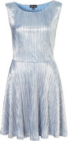 Metallic Pleated Tunic Dress