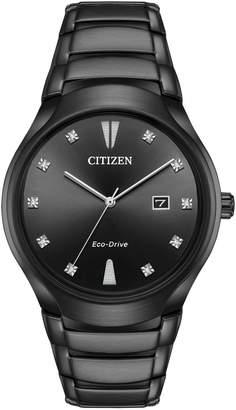 Citizen Eco-Drive Diamond & Stainless Steel Bracelet Watch