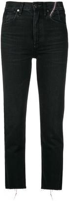 Jean Atelier Frayed Straight-Leg Jeans