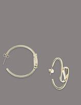 Autograph Swirl Hoop Earrings