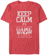 Game Time Chin Up Apparel Men's Tee Shirts RED - Red Heather 'Keep Calm It's Game Time' Tee - Men