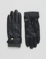 Dents Henley Leather Touch Screen Gloves