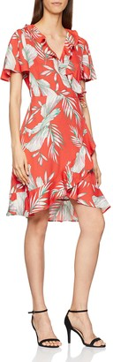 Vero Moda Women's Vmmaharete SS Short Wrap Dress