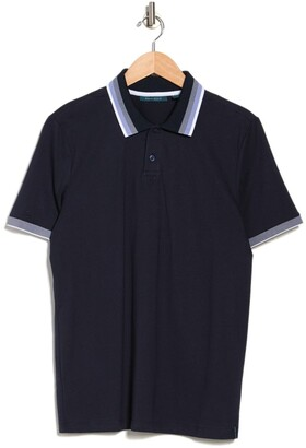 Perry Ellis Flat Knit Short Sleeve Polo