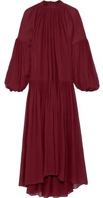 Stella McCartney Tiffany Gathered Silk-chiffon Maxi Dress