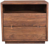 Moe's Home Collection Madagascar 2 Drawer Nightstand, Brown