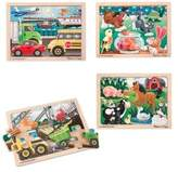 Melissa & Doug 4-Pack Jigsaw Puzzle Bundle