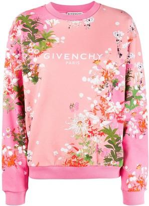 Givenchy Logo Floral Print Sweatshirt