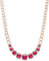 Effy Rosa by Ruby (7-5/8 ct. t.w.) and Diamond (5/8 ct. t.w.) Square Necklace in 14k Rose Gold
