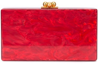 Edie Parker Marbled-Effect Clutch Bag