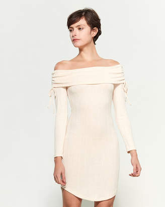 Almost Famous Knitted Off-Shoulder Dress
