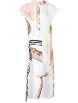 Loewe multi-print flared dress