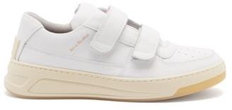 Acne Studios Steffey Velcro-strap Leather Trainers - White