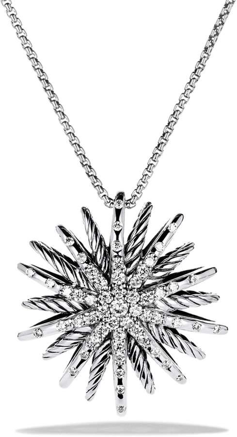 David Yurman 'Starburst' Medium Pendant with Diamonds on Chain