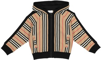 BURBERRY KIDS Icon Stripe cotton hoodie