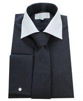 William Hunt Whtie Collar Gingham Shirt With Tie