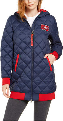 Tommy Hilfiger Quilted Varsity Hooded Puffer Jacket