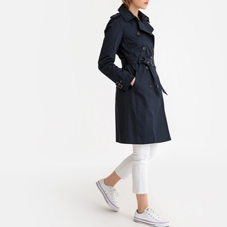 La Redoute Collections Long Cotton Trench Coat with Pockets