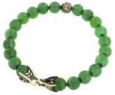 David Yurman Sterling Silver with Green Onyx Spiritual Beads Bracelet
