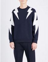 Neil Barrett Lightning-print neoprene sweatshirt