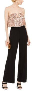 Adrianna Papell Sequin Popover Jumpsuit