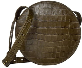 Madewell Circle Crossbody in Croco (Asparagus) Handbags