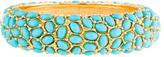 Kenneth Jay Lane Faux Turquoise Beaded Cuff Bracelet