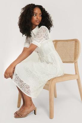 NA-KD Short Sleeve Lace Dress