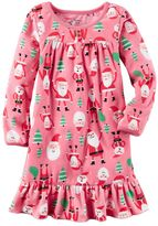 Carter's Girls 4-14 Santa Nightgown