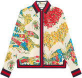 Gucci corsage print silk shirt - women - Silk/Cotton/Viscose - 42