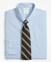 Brooks Brothers Milano Slim-Fit Dress Shirt, Non-Iron Sidewheeler Gingham