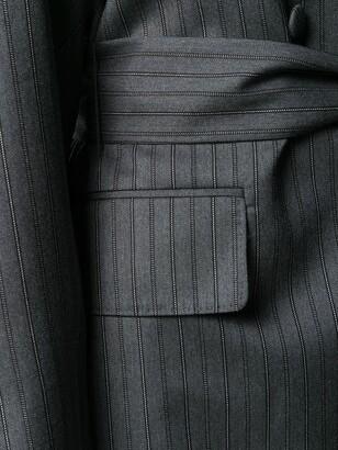 Salvatore Ferragamo Tie Waist Silk Coat