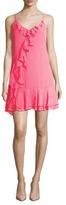 Shoshanna Ruffle Trimmed Slip Dress
