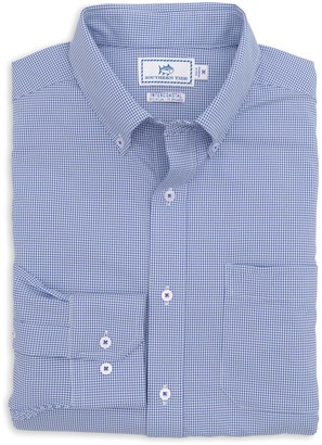 Southern Tide Team Colors Gingham Intercoastal Sport Shirt