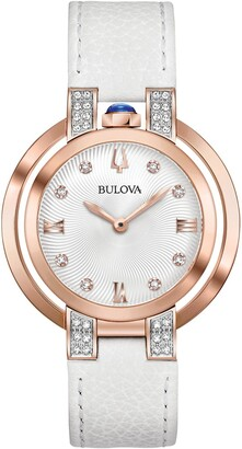 Bulova Women's Rubaiyat Diamond Quartz Analog Watch, 35mm - 0.16 ctw