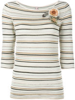 Antonio Marras striped corsage jumper - women - Nylon/Polyester/Viscose - S