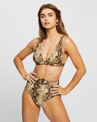 Faithfull The Brand Women's Brown Bikini Tops - Palolem Top - Size S at The Iconic