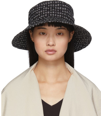 Issey Miyake Black Crossword Hat