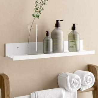 "ClosetMaid Wall Shelf Size: 2.76"" H x 18.98"" W x 4.72"" D, Finish: White"