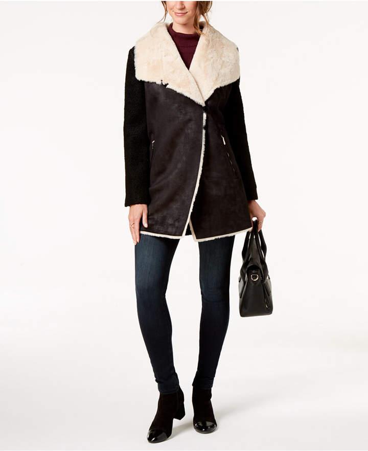 Calvin Klein Faux-Fur-Lined Coat