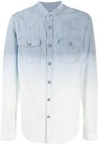 Balmain gradient striped denim shirt