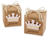 Kate Aspen Little Princess Kraft Favor Box - Pink/Brown (Set of 24)